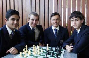 Sudhanshu Pathania, Thomas Gargan, Hunter Liebold and Steven Harnischfeger.